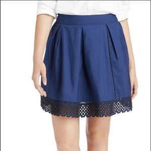 Vineyard Vines eyelet skirt solid Deep Bay